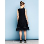 Australia Cocktail Party Dress Black Plus Sizes Dresses Petite A-line Jewel Short Knee-length Cotton Formal Dress Australia