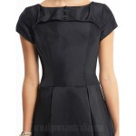Australia Cocktail Party Dress Black A-line Scoop Tea-length Taffeta Formal Dress Australia