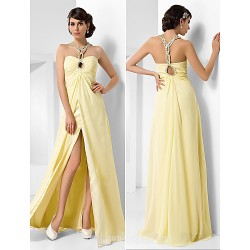 Australia Formal Dress Evening Gowns Prom Gowns Military Ball Dress Daffodil Plus Sizes Dresses Petite A-line Princess Sweetheart Long Floor-length Chiffon