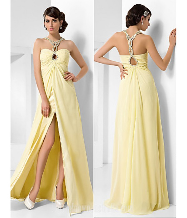 Australia Formal Dress Evening Gowns Prom Gowns Military Ball Dress Daffodil Plus Sizes Dresses Petite A-line Princess Sweetheart Long Floor-length Chiffon Formal Dress Australia