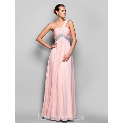 Australia Formal Evening Dress Prom Gowns Military Ball Dress Blushing Pink Plus Sizes Dresses Petite A-line Princess Sexy One Shoulder Long Floor-length Chiffon