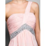 Australia Formal Evening Dress Prom Gowns Military Ball Dress Blushing Pink Plus Sizes Dresses Petite A-line Princess Sexy One Shoulder Long Floor-length Chiffon Formal Dress Australia