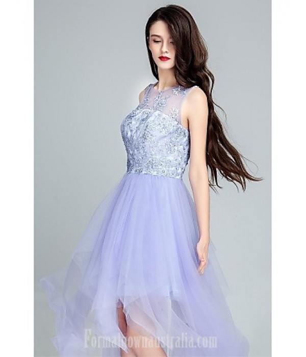 Australia Formal Dresses Cocktail Dress Party Dress Lavender Ball Gown Scoop Long Floor-length Tulle Dress Formal Dress Australia