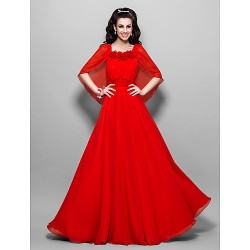 Australia Formal Evening Dress Prom Gowns Military Ball Dress Ruby Plus Sizes Dresses Petite A-line Square Ankle-length Chiffon