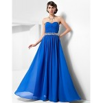 Australia Formal Dress Evening Gowns Prom Gowns Military Ball Dress Royal Blue Plus Sizes Dresses Petite A-line Princess Sweetheart Strapless Long Floor-length Chiffon Formal Dress Australia
