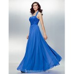 Australia Formal Dress Evening Gowns Royal Blue Plus Sizes Dresses Petite A-line Halter Long Floor-length Chiffon Lace Formal Dress Australia