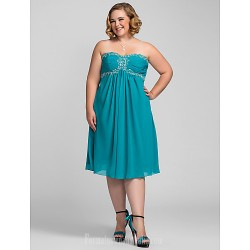 Australia Cocktail Party Dresses Holiday Dress Jade Plus Sizes Dresses Petite A-line Sweetheart Strapless Short Knee-length Chiffon