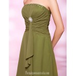 Australia Formal Dresses Cocktail Dress Party Dress Clover Plus Sizes Dresses Petite A-line Princess Strapless Short Knee-length Chiffon Formal Dress Australia