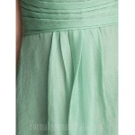 Short Knee-length Chiffon Bridesmaid Dress Sage Plus Sizes Dresses Petite A-line V-neck Formal Dress Australia
