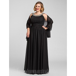 Australia Formal Evening Dress Prom Gowns Military Ball Dress Black Plus Sizes Dresses Petite A-line Jewel Long Floor-length Chiffon