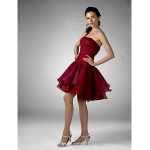 Australia Formal Dresses Cocktail Dress Party Dress Prom Gowns Holiday Sweet 16 Dress Burgundy Plus Sizes Dresses Petite Ball Gown A-line Princess Strapless Short Knee-length Formal Dress Australia