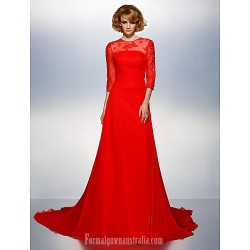 Prom Gowns Australia Formal Dress Evening Gowns Ruby Plus Sizes Dresses Petite A Line Jewel Court Train Chiffon