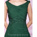 Australia Formal Dresses Cocktail Dress Party Dress Holiday Wedding Party Dress Dark Green Plus Sizes Dresses Petite A-line Princess Bateau Short Knee-length Chiffon Formal Dress Australia