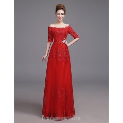Australia Formal Dress Evening Gowns Ruby Plus Sizes Dresses A-line Off-the-shoulder Long Floor-length Satin