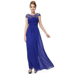 Australia Formal Dress Evening Gowns Royal Blue Black Grape Ruby Plus Sizes Dresses A Line Jewel Long Floor Length Chiffon