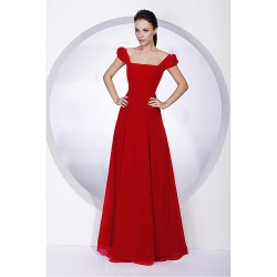 Long Floor Length Chiffon Bridesmaid Dress Ruby Plus Sizes Dresses Petite A Line Princess Off The Shoulder Square