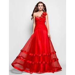 Australia Formal Dress Evening Gowns Prom Gowns Military Ball Dress Ruby Plus Sizes Dresses Petite A Line Princess Sexy One Shoulder Sweetheart Long Floor Length Organza