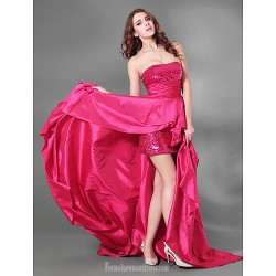 Australia Cocktail Party Dresses Australia Formal Evening Dress Military Ball Dress Fuchsia Plus Sizes Dresses Petite A-line Strapless Court Train Sequined Taffeta