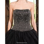Prom Gowns Australia Formal Dress Evening Gowns Quinceanera Sweet 16 Dress Black Plus Sizes Dresses Petite Princess A-line Ball Gown Strapless Long Floor-length Formal Dress Australia
