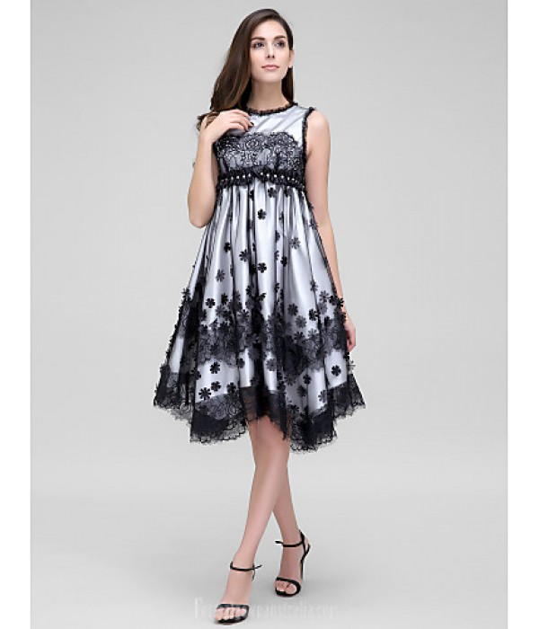 Australia Formal Dresses Cocktail Dress Party Dress Ivory A-line Jewel Asymmetrical Lace Tulle Formal Dress Australia