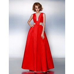 Prom Gowns Australia Formal Dress Evening Gowns Ruby Plus Sizes Dresses Petite A-line V-neck Long Floor-length Taffeta