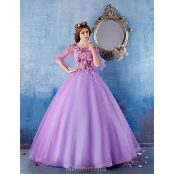 Australia Formal Dress Evening Gowns Lilac Ball Gown Scoop Long Floor Length Satin