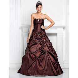 Prom Gowns Australia Formal Dress Evening Gowns Quinceanera Sweet 16 Dress Chocolate Plus Sizes Dresses Petite Ball Gown A Line Sweetheart Strapless