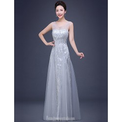 Australia Formal Dress Evening Gowns Silver A Line V Neck Long Floor Length Tulle Dress Sequined