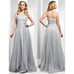 Australia Formal Dress Evening Gowns Silver Plus Sizes Dresses Petite A Line Princess High Neck Long Floor Length Organza
