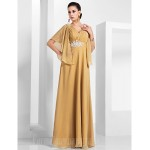 Australia Formal Evening Dress Military Ball Dress Gold Plus Sizes Dresses Petite A-line Princess V-neck Long Floor-length Chiffon Formal Dress Australia