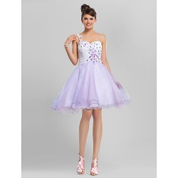 Australia Cocktail Party Dresses Sweet 16 Dress Multi-color Plus Sizes Dresses Petite A-line Ball Gown Sexy One Shoulder Sweetheart Short Knee-length