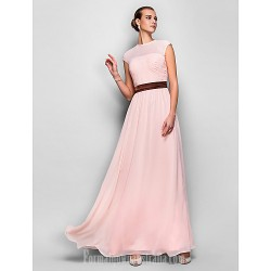 Australia Formal Dress Evening Gowns Prom Gowns Military Ball Dress Pearl Pink Plus Sizes Dresses Petite A-line Jewel Long Floor-length Georgette