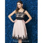 Dress Pearl Pink Plus Sizes Dresses Petite A-line Straps Short Knee-length Jersey Chiffon Formal Dress Australia