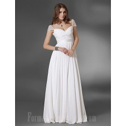 Prom Gowns Military Ball Australia Formal Dress Evening Gowns White Plus Sizes Dresses Petite A-line Princess V-neck Off-the-shoulder Long Floor-length Chiffon