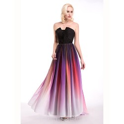 Australia Cocktail Party Dresses Australia Formal Evening Dress Multi-color Ball Gown Notched Long Floor-length Chiffon