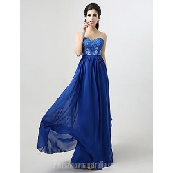 Australia Formal Dress Evening Gowns Royal Blue Plus Sizes Dresses Petite A-line Sweetheart Long Floor-length