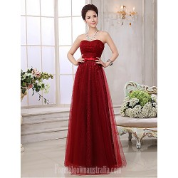 Australia Formal Dress Evening Gowns Burgundy Plus Sizes Dresses A-line Sweetheart Long Floor-length Lace Dress Tulle