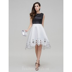 Australia Formal Dresses Cocktail Dress Party Dress Multi-color A-line Jewel Asymmetrical Satin