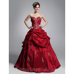 Prom Gowns Australia Formal Dress Evening Gowns Quinceanera Sweet 16 Dress Burgundy Plus Sizes Dresses Petite Ball Gown Strapless Sweetheart Long Floor-length Taffeta