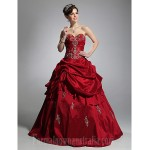 Prom Gowns Australia Formal Dress Evening Gowns Quinceanera Sweet 16 Dress Burgundy Plus Sizes Dresses Petite Ball Gown Strapless Sweetheart Long Floor-length Taffeta Formal Dress Australia