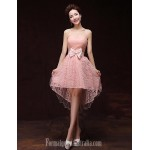 Australia Formal Dresses Cocktail Dress Party Dress Pearl Pink A-line Sweetheart Short Knee-length Satin Formal Dress Australia