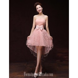 Australia Formal Dresses Cocktail Dress Party Dress Pearl Pink A Line Sweetheart Short Knee Length Satin