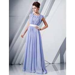 Australia Formal Dress Evening Gowns Military Ball Dress Lavender Plus Sizes Dresses Petite A-line Princess Scoop Long Floor-length Chiffon