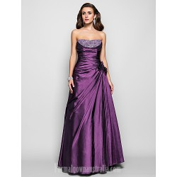 Prom Gowns Australia Formal Dress Evening Gowns Military Ball Dress Grape Plus Sizes Dresses Petite A Line Princess Strapless Long Floor Length Taffeta