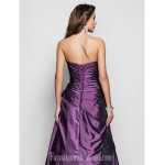 Prom Gowns Australia Formal Dress Evening Gowns Military Ball Dress Grape Plus Sizes Dresses Petite A-line Princess Strapless Long Floor-length Taffeta Formal Dress Australia