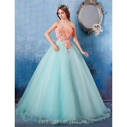 Australia Formal Dress Evening Gowns Multi-color Ball Gown Strapless Long Floor-length Satin