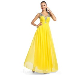 Prom Gowns Military Ball Australia Formal Dress Evening Gowns Daffodil Plus Sizes Dresses Petite A-line Princess V-neck Long Floor-length Chiffon Tulle