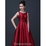 Australia Formal Dress Evening Gowns Ruby Burgundy Champagne Plus Sizes Dresses A-line Scoop Long Floor-length Satin Formal Dress Australia