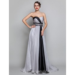 Australia Formal Evening Dress Military Ball Dress Silver Plus Sizes Dresses Petite A-line Sweetheart Long Floor-length Chiffon