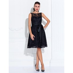 Wedding Party Dresses Australia Formal Dresses Cocktail Dress Party Dress Black Plus Sizes Dresses Petite A-line Jewel Short Knee-length Lace